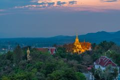 Wat Phrathat Doi Saket is an ancient Buddhist temple. Wat Phrathat Doi Saket is an ancient Buddhist temple near Chiang Mai that carries on the tradition of Royalty Free Stock Images