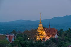 Wat Phrathat Doi Saket is an ancient Buddhist temple. Wat Phrathat Doi Saket is an ancient Buddhist temple near Chiang Mai that carries on the tradition of Stock Photo