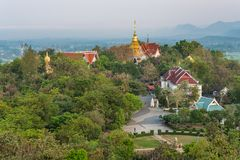 Wat Phrathat Doi Saket is an ancient Buddhist temple. Wat Phrathat Doi Saket is an ancient Buddhist temple near Chiang Mai that carries on the tradition of Royalty Free Stock Photography