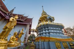 Wat Phrathat Doi Saket is an ancient Buddhist temple. Wat Phrathat Doi Saket is an ancient Buddhist temple near Chiang Mai that carries on the tradition of Royalty Free Stock Image