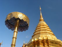 Wat Phrathat Doi Suthep, Chiang Mai, Thailand. Golden buddhist temple in Chiang Mai, thailand Stock Photos