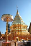 Wat Phrathat Doi Suthep at Chiang Mai. Thailand.Pagoda covered with gold plate Stock Images