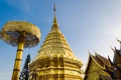 Wat Phrathat Doi Suthep på Chiangmai, Thailand Royaltyfri Bild