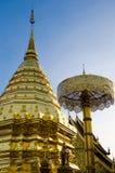 Wat Phrathat Doi Suthep på Chiangmai, Thailand Arkivbilder