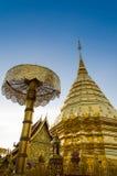 Wat Phrathat Doi Suthep på Chiangmai, Thailand Royaltyfri Foto
