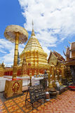 Wat Phrathat Doi Suthep-Tempel in Chiang Mai, Thailand. stockfotografie