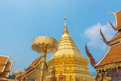 Wat Phrathat Doi Suthep-Tempel in Chiang Mai, Thailand Stockfotos