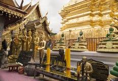 Wat Phrathat Doi Suthep The-Tempel gekennzeichnet häufig als Stockfoto