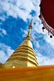 Wat Phrathat Doi Suthep. Temple in Chiang Mai the north of Thailand.golden pagoda Royalty Free Stock Image