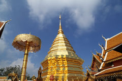 Wat Phrathat Doi Suthep temple in Chiang Mai province Stock Photos