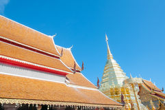 Wat Phrathat Doi Suthep temple in Chiang Mai Royalty Free Stock Photos