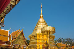 Wat Phrathat Doi Suthep temple in Chiang Mai, Thailand Royalty Free Stock Photos