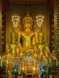 Wat phrathat hariphuncha 免版税库存照片