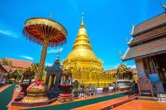 Wat Phrathat Hariphunchai Golden pagoda. Wat Phrathat Hariphunchai Golden pagoda in Lamphun,Thailand Stock Photos
