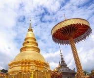 Wat Phrathat Hariphunchai Tempel Lizenzfreie Stockbilder