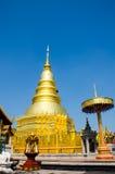 Wat Phrathat Hariphunchai temple Royalty Free Stock Image
