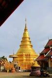 Wat Phrathat-haripunchai Стоковое фото RF