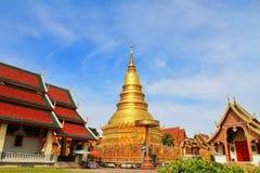 Wat Phrathat-haripunchai Стоковые Фотографии RF