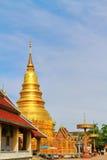 Wat Phrathat-haripunchai Стоковые Изображения