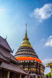 Wat Phrathat Lampang Luang. With Blue Sky Background, Historic Building Landmark, Thailand Royalty Free Stock Photo