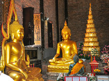 Wat Phrathat Pha-Ngao 免版税库存照片