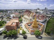 Wat Phrathat Phra阿拉姆Luang 免版税库存照片
