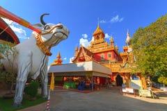 Wat Phrathat Rueng Rong-Tempel Stockbilder