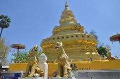 Wat Phrathat Sri Chom Tong Στοκ εικόνα με δικαίωμα ελεύθερης χρήσης