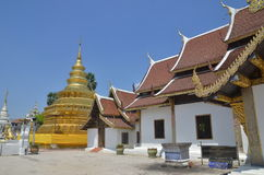 Wat Phrathat Sri Chom Tong Στοκ Εικόνες