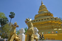 Wat Phrathat Sri Chom Tong Στοκ Εικόνα