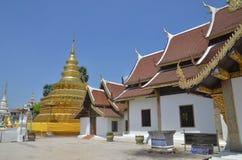 Wat Phrathat Sri Chom Zange Stockbilder