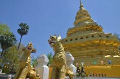 Wat Phrathat Sri Chom Zange Stockbild