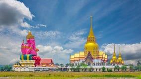 Wat Phrong Akat architecture beautiful stock footage