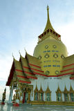 Wat Phrong-Akat (The buddhist temple in Chachoengsao) Stock Photos