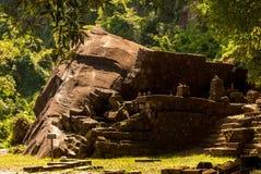 Wat Phu在南老挝 免版税库存照片