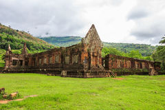 Wat Phu或大桶Phou 免版税图库摄影