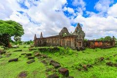 Wat Phu或大桶Phou 免版税库存图片