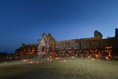 Wat Phu το βράδυ Στοκ Φωτογραφίες