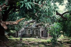 Wat Phu an ancient monument and unesco protected heritage site of south east asia form the Angkor era stock photography