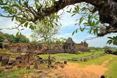Wat Phu Champa Laos Lizenzfreies Stockbild