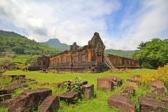 Wat Phu Champa Laos Royalty Free Stock Photos