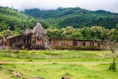 Wat Phu Champasak temple Stock Photo