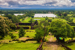 Wat Phu Champasak temple Royalty Free Stock Images