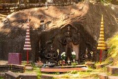 Wat Phu en Laos meridional fotografía de archivo