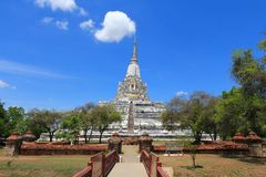 The Wat Phu Khao Thong in Ayutthaya, Thailand Stock Photo