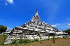 The Wat Phu Khao Thong in Ayutthaya, Thailand Royalty Free Stock Photo