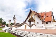 Wat Phumin佛教寺庙在南泰国 免版税库存照片