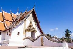 Wat Phumin佛教寺庙在南,泰国 免版税库存图片