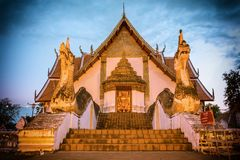 Wat Phumin或Wat Phumin楠府,泰国的寺庙吸引力 免版税库存照片