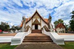 Wat Phumin, Muang区,楠府,泰国 寺庙是一个公共场所 创造100岁 库存照片